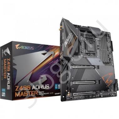 Материнская плата Z490 AORUS MASTER, Socket 1200, Intel®Z490, 4xDDR4-2933, HDMI, 3xPCI-Ex16, 6xSATA3(RAID 0/1/5/10), 3xM.2, 8Ch Audio, 2,5GLan, Wi-Fi, (4+4)xUSB2.0, (5+2)xUSB3.2, (1+1)xUSB3.2 Type-C™, ATX, RTL, {5}