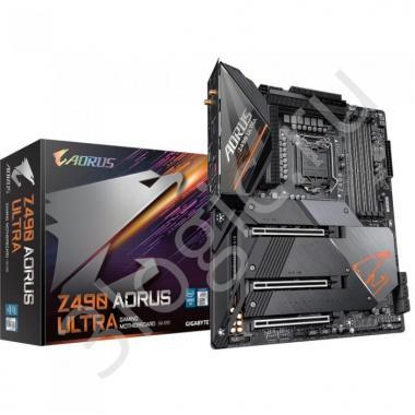 Материнская плата Z490 AORUS ULTRA, Socket 1200, Intel®Z490, 4xDDR4-2933, HDMI, 3xPCI-Ex16,  6xSATA3(RAID 0/1/5/10), 3xM.2, 8Ch Audio, 2,5GLan, Wi-Fi, (4+4)xUSB2.0, (5+2)xUSB3.2, (1+1)xUSB3.2 Type-C™, ATX, RTL, {5}