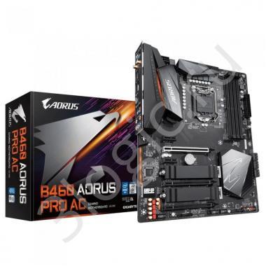 Материнская плата B460 AORUS PRO AC, Socket 1200, Intel®B460, 4xDDR4-2933, HDMI+DP, 3xPCI-Ex16, 2xPCI-Ex1, 6xSATA3(RAID 0/1/5/10), 2xM.2, 8Ch Audio, 2,5GLan, Wi-Fi, (2+4)xUSB2.0, (5+2)xUSB3.2, (1+0)xUSB3.2 Type-C™, ATX, RTL, {6}