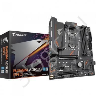 Материнская плата B460M AORUS PRO, Socket 1200, Intel®B460, 4xDDR4-2933, DVI-D+HDMI+DP, 2xPCI-Ex16, 1xPCI-Ex1, 6xSATA3(RAID 0/1/5/10), 3xM.2, 8Ch Audio, GLan, (2+4)xUSB2.0, (3+2)xUSB3.2, (1+0)xUSB3.2 Type-C™, 1xPS/2, mATX, RTL, {10}