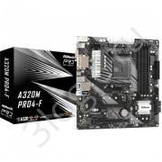 Материнская плата A320M PRO4-F, Socket AM4, AMD A320, 4xDDR4-3200, D-SUB+DVI-D+HDMI, 2xPCI-Ex16, 1xPCI-Ex1, 4xSATA3(RAID 0/1/10), 2xM.2, 8 Ch Audio, GLan, (2+4)xUSB2.0, (4+2)xUSB3.1, 1xUSB3.1 Type-C™, 2xPS/2, mATX, RTL, {20}