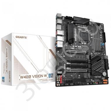 Материнская плата W480 VISION W, Socket 1200, Intel®W480, 4xDDR4-2933, HDMI+DP+DP, 4xPCI-Ex16, 1xPCI-Ex1, 6xSATA3(RAID 0/1/5/10), 2xM.2, 8Ch Audio, 1xGLan, 1x2,5GLan, (4+2)xUSB2.0, (4+2)xUSB3.2, (0+1)xUSB3.2 Type-C™, 1xPS/2, ATX, RTL, {}