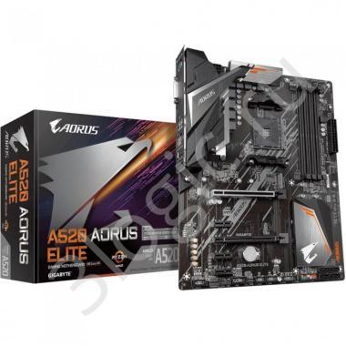 Материнская плата A520 AORUS ELITE, Socket AM4, AMD A520, 4xDDR4-3200, DVI-D+HDMI, 2xPCI-Ex16, 3xPCI-Ex1, 4xSATA3(RAID 0/1/10), 1xM.2, 8 Ch Audio, GLan, (4+4)xUSB2.0, (4+2)xUSB3.2, 1xPS/2, ATX, RTL {8}