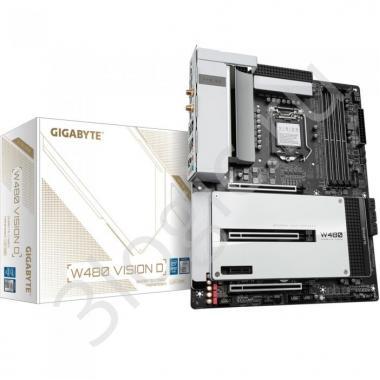 Материнская плата W480 VISION D, Socket 1200, Intel®W480, 4xDDR4-2933, HDMI, 3xPCI-Ex16, 1xPCI-Ex1, 6xSATA3(RAID 0/1/5/10), 3xM.2, 8Ch Audio, 1xGLan, 1x2,5GLan, WiFi, (2+4)xUSB2.0, (6+1)xUSB3.2, (2+1)xUSB3.2 Type-C™,  ATX, RTL, {5}