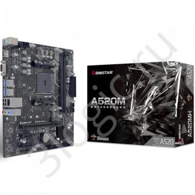 Материнская плата A520MH, Socket AM4, AMD A520, 2xDDR4-2933, D-SUB+HDMI, 1xPCI-Ex16, 2xPCI-Ex1, 4xSATA3(RAID 0/1/10), 1xM.2, 8 Ch Audio, GLan, (4+2)xUSB2.0, (2+4)xUSB3.2, 2xPS/2, mATX, RTL, {}