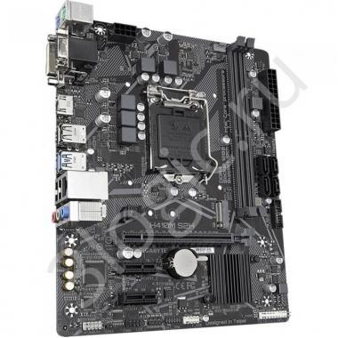 Материнская плата H410M S2H, Socket 1200, Intel®H410, 2xDDR4-2666, D-SUB+DVI-D+HDMI, 1xPCI-Ex16, 2xPCI-Ex1, 4xSATA3, 1xM.2, 8 Ch Audio, GLan, (4+2)xUSB2.0, (2+2)xUSB3.2, 2xPS/2, mATX, OEM {10}