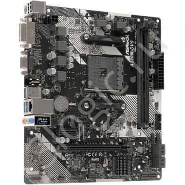 Материнская плата A320M-DVS R4.0, Socket AM4, AMD A320, 2xDDR4-2667, D-SUB+DVI-D, 1xPCI-Ex16, 1xPCI-Ex1, 4xSATA3(RAID 0/1/10), 8 Ch Audio, GLan, (2+4)xUSB2.0, (4+2)xUSB3.1, 1xPS/2, mATX, OEM, {20}
