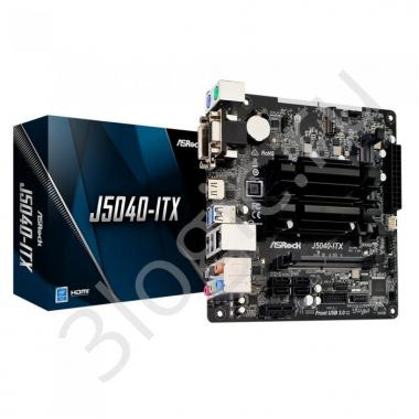 Материнская плата с ЦПУ J5040-ITX, Intel® Quad-Core Pentium® J5040 (3.2 GHz), 2xDDR4-2400 SO-DIMM, D-SUB+DVI-D+HDMI, 1xPCI-E, 4xSATA3, 1xM.2, 8 Ch Audio, GLan, (2+3)xUSB2.0, (2+2)xUSB3.2, 2xPS/2, Mini-ITX, RTL {}