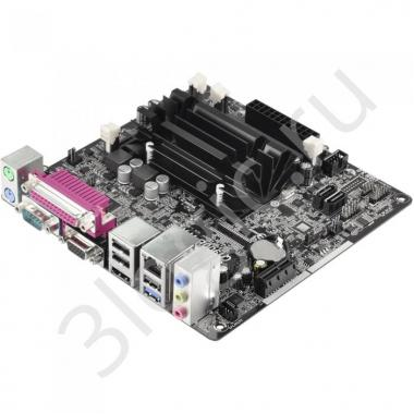 Материнская плата с ЦПУ Q1900B-ITX, Intel® Quad-Core Processor J1900 (2 GHz), Mini-ITX, 2xDDR3/DDR3L-1333 SO-DIMM, Max 16GB, 1xPCI-Ex1, 1xSATA2, Giga Lan, 6CH, VGA/HDMI, 3xUSB2.0, 1xUSB3.0 OEM {20}