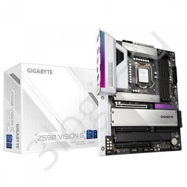 Материнская плата Z590 VISION G, Socket 1200, Intel®Z590, 4xDDR4-3200, HDMI+DP, 3xPCI-Ex16, 6xSATA3(RAID 0/1/5/10), 4xM.2, 8Ch Audio, 2.5GLan, (2+4)xUSB2.0, (6+2)xUSB3.2, (2+1)xUSB3.2 Type-C™, 1xPS/2, ATX, RTL, {6}