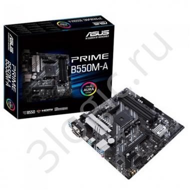 Материнская плата PRIME B550M-A /AM4,B550,DUAL M.2,HDMI,AURA,MB RTL {10}