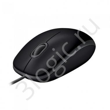 Мышь Logitech B100 Black [910-003357] черная, оптическая 800dpi, USB, 1.8м