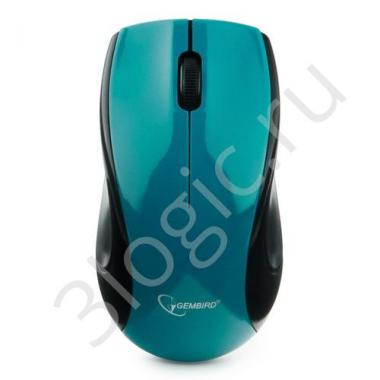 Мышь беспров. Gembird MUSW-320-B, 2.4ГГц, голубой, 3кн, 1000DPI, блистер