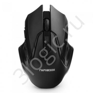 Мышь беспров. Гарнизон GMW-425, чип X2, черный, 1600 DPI, 3 кн.+ колесо-кнопка, блистер
