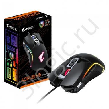 Мышь AORUS M5/USB MICE/IR/BK GM-AORUS M5 {40}