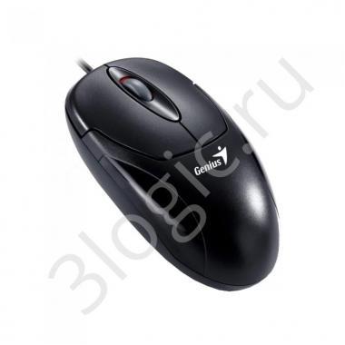 Мышь Genius XScroll V3 [31010233100] черная, оптическая, 1000dpi, 3 кнопки, USB кабель 1.8м