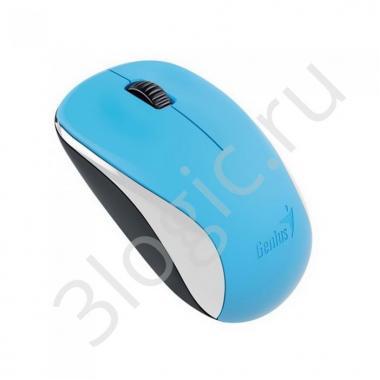 Мышь беспроводная Genius NX-7000 Blue [31030109109] голубая, BlueEye, 1200dpi, 3 кнопки, 2.4GHz, USB приемник