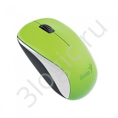 Мышь беспроводная Genius NX-7000 Green [31030109111] зеленая, BlueEye, 1200dpi, 3 кнопки, 2.4GHz, USB приемник